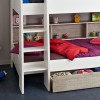 Tam Tam White and Grey Wooden Bunk Bed with Underbed Storage Drawer