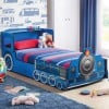 Tommy Train Blue Wooden Kids Theme Bed