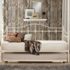 Torino Cream Metal Guest Bed with Trundle