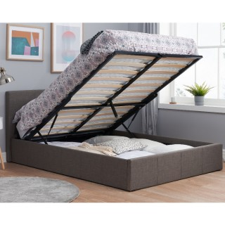 Stupendous Cheviot Grey Fabric Automatic Ottoman Storage Bed Pabps2019 Chair Design Images Pabps2019Com