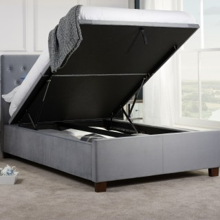 Tremendous Cheviot Grey Fabric Automatic Ottoman Storage Bed Pabps2019 Chair Design Images Pabps2019Com