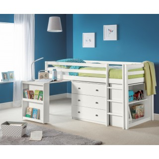 Ultimate Mid Sleeper White Wooden Storage Bed