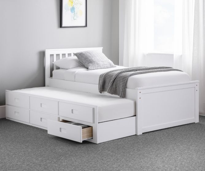 Maisie White Wooden Guest Bed