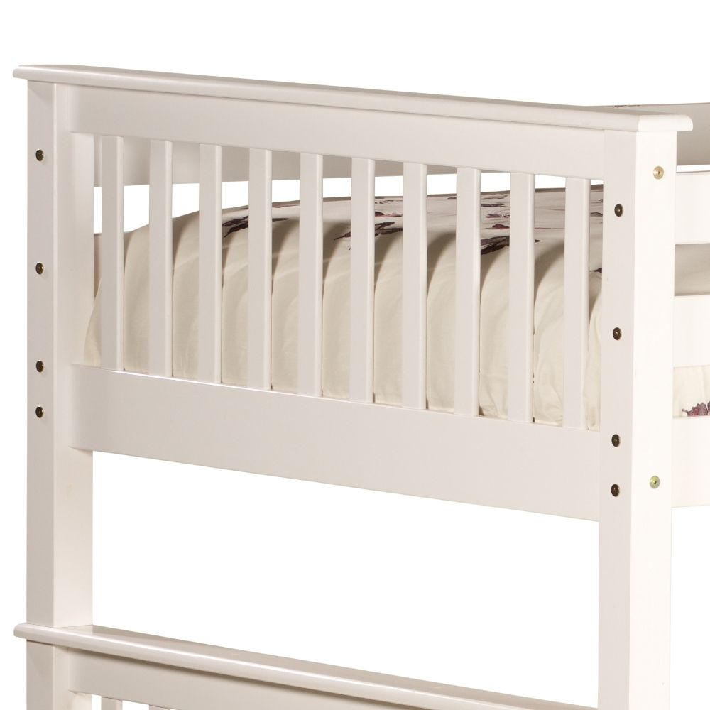 Malvern White Wooden Quadruple Sleeper Bunk Bed Frame ...