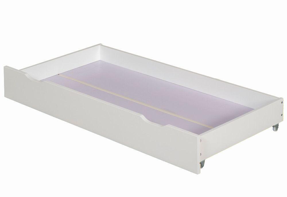 Zibo White Wooden Under Bed Storage Drawer, Under Bed Storage Drawers On Wheels