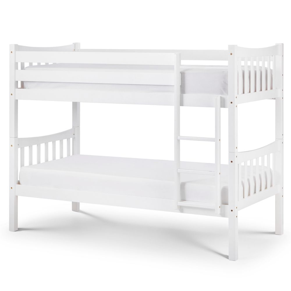 Zodiac White Wooden Bunk Bed Frame Only 3ft Single