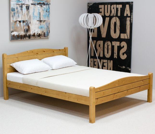 Elwood Antique Pine Wooden Bed