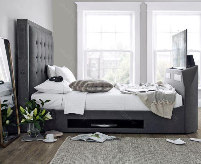 Titan 2 Berwick Grey Fabric TV Media Bed