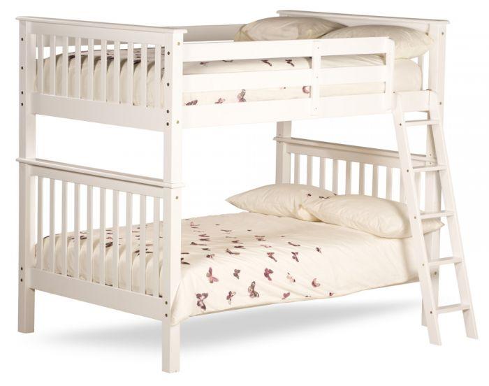 Malvern White Wooden Quadruple Sleeper Bunk Bed