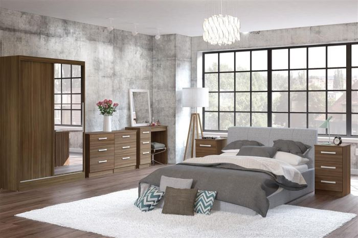 Lynx Walnut Wooden Bedroom Furniture Collections