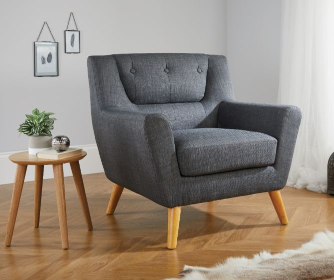 Lambeth Grey Fabric Chair