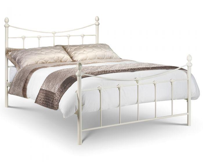 Rebecca Stone White Metal Bed