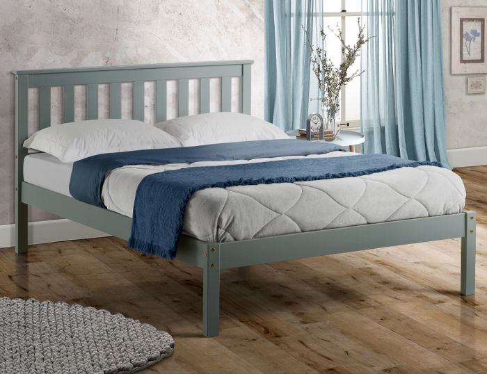 Denver Grey Solid Pine Wooden Bed