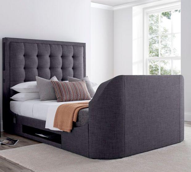 Titan 2 Slate Grey Fabric TV Media Bed