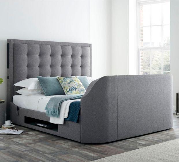 Titan 2 Smoke Grey Fabric TV Media Bed