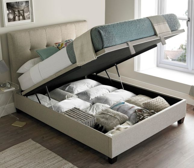 Walkworth Oatmeal Fabric Ottoman Storage Bed from £654.99