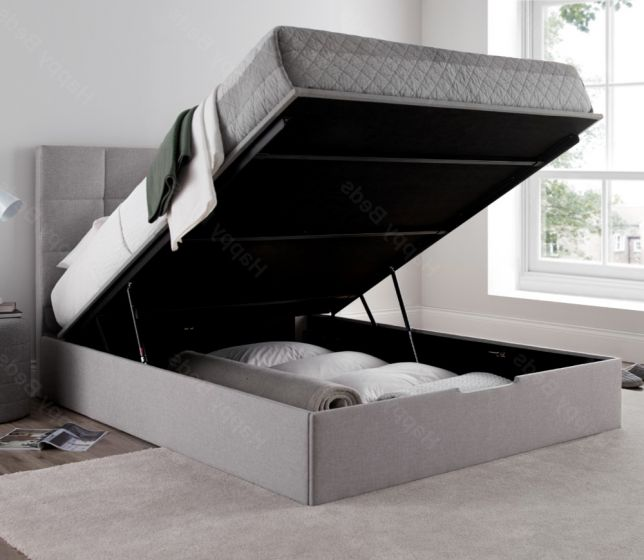Whitburn Silver Fabric Ottoman Storage Bed