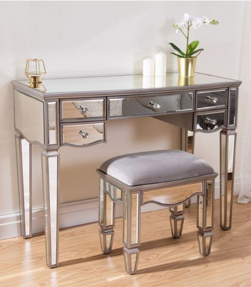 Elysee Mirrored 5 Drawer Dressing Table