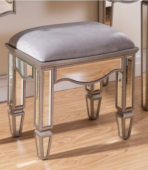 Elysee Mirrored Dressing Table Stool from £154.99