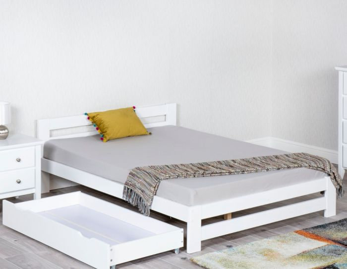 Xiamen White Wooden Bed