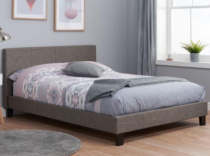 Berlin Grey Fabric Bed