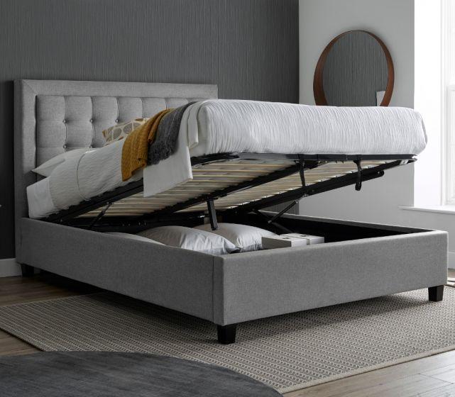 Brandon Grey Fabric Ottoman Bed