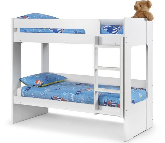 Ellie White Wooden Bunk Bed