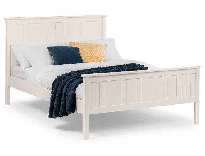 Maine White Wooden Bed