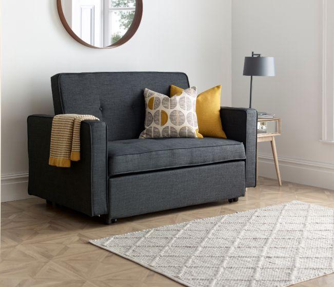 Troy Grey Fabric Sofa Bed