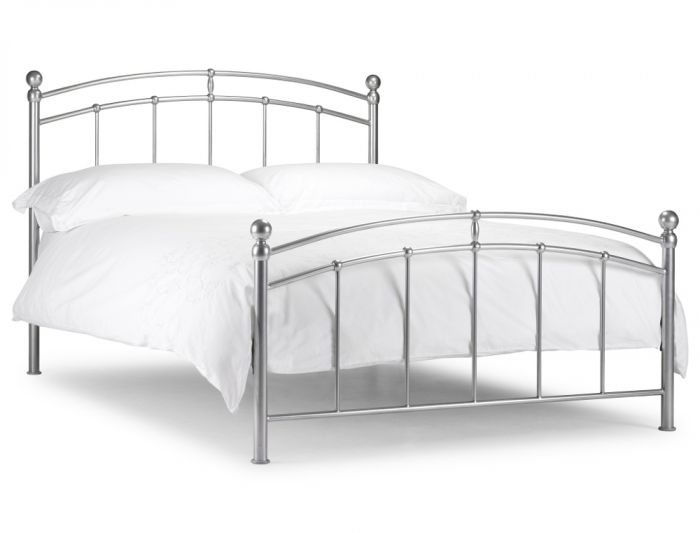 Chatsworth Silver Finish Metal Bed