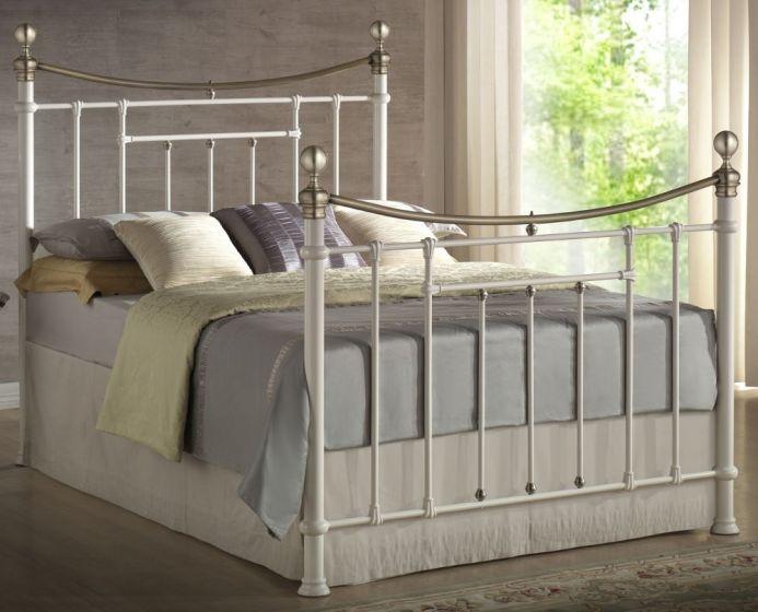 Bronte Cream Metal Bed