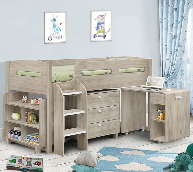 Kimbo Oak Mid Sleeper Cabin Bed