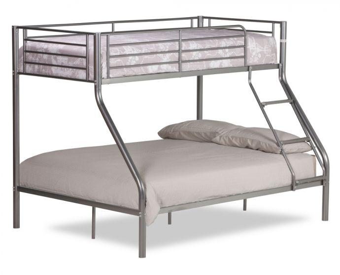 Twin Sleeper Silver Metal Bunk Bed