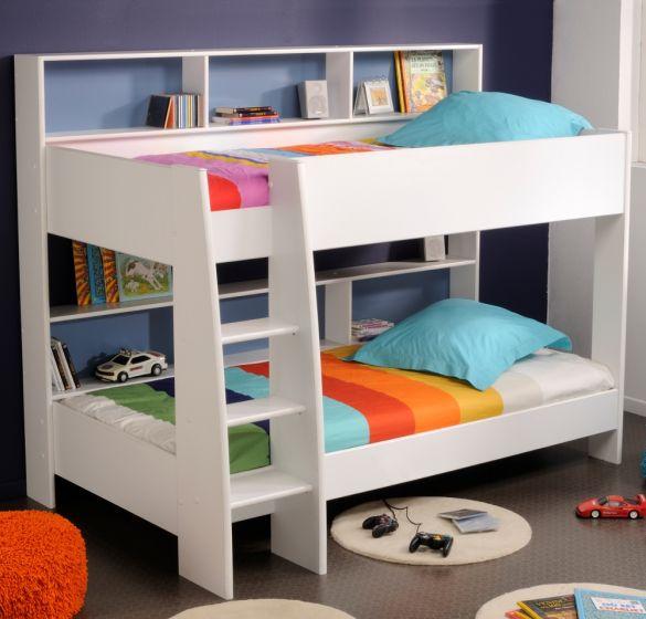 Tam Tam White Wooden Bunk Bed