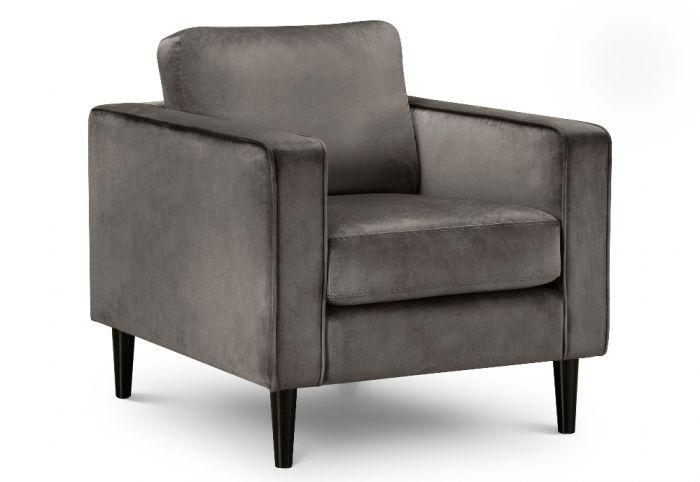 Hayward Grey Velvet Fabric Chair