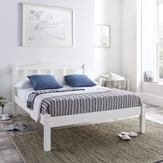 Amberley White Wooden Bed