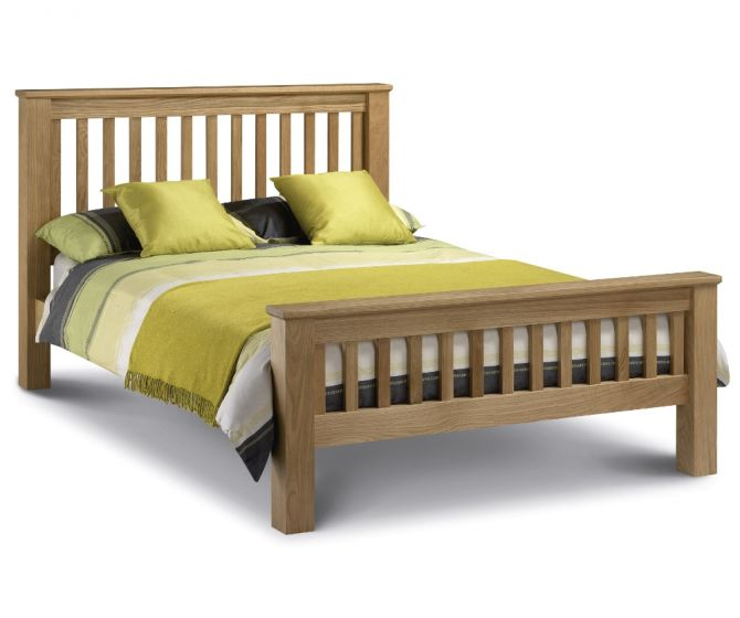 Amsterdam High Foot End Solid Oak Wooden Bed
