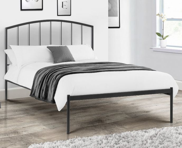 Onyx Anthracite Metal Bed