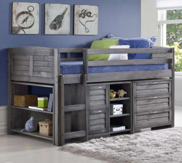 Cosy Grey Wooden Mid Sleeper Storage Bed