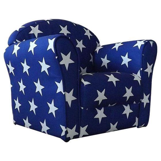 Children's Blue and White Stars Mini Armchair