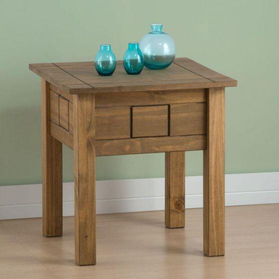 Santiago Pine Lamp Table