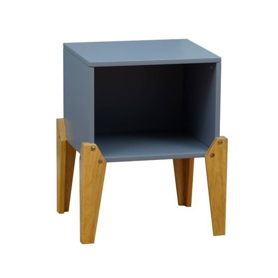 Solar Joybox Grey and Oak Wooden Bedside Table