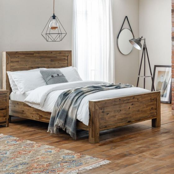 Hoxton Rustic Oak Wooden Bed
