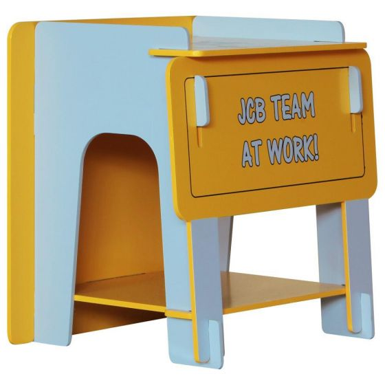 JCB Yellow Children's Digger Bedside Table