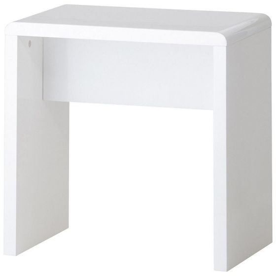 Manhattan White Wooden Dressing Table Stool