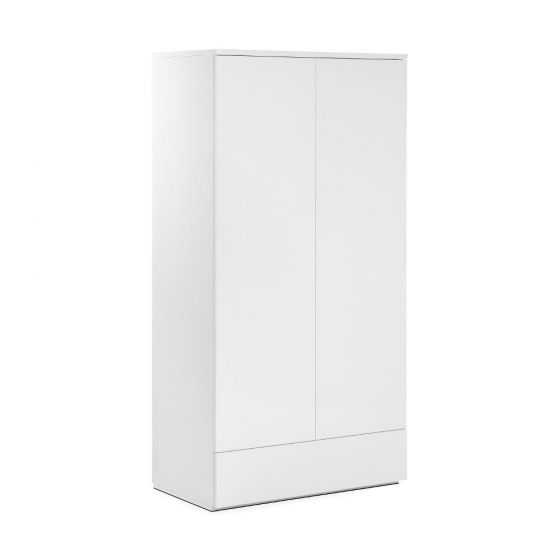 Monaco White Wooden High Gloss Combination Wardrobe