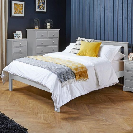 Suffolk Dove Grey Wooden Bed