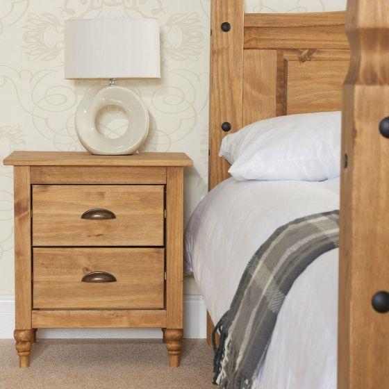 Pembroke Pine 2 Drawer Bedside Table