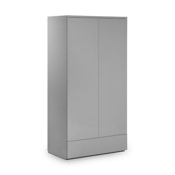 Monaco Grey Wooden High Gloss Combination Wardrobe