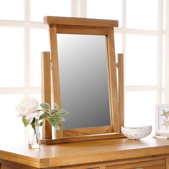 Woburn Oak Wooden Mirror